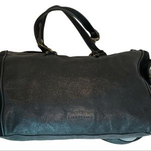 Liebeskind Black Metallic Leather and Suede Purse